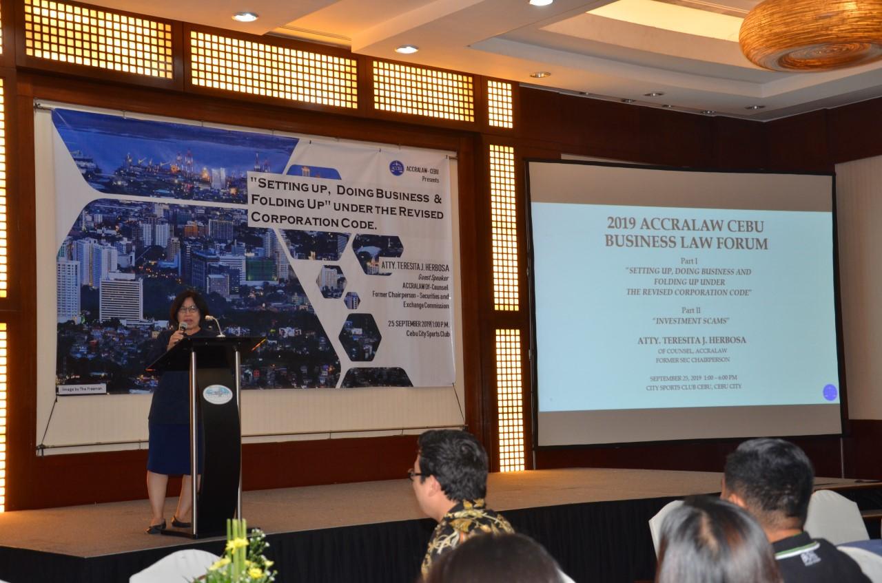 ACCRALAW Cebu's Business Forum